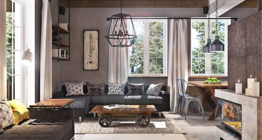 Studio Apartment Design Industrial Decor Looks