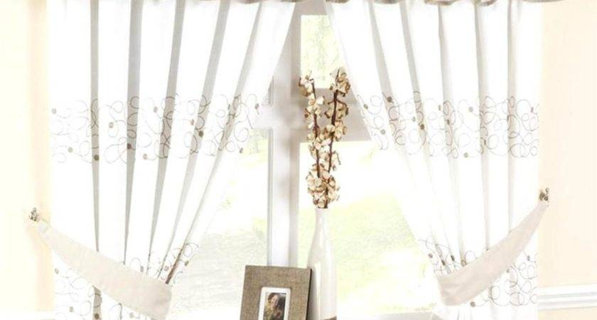 Stunning Beige Kitchen Curtains Including Furniture Cute