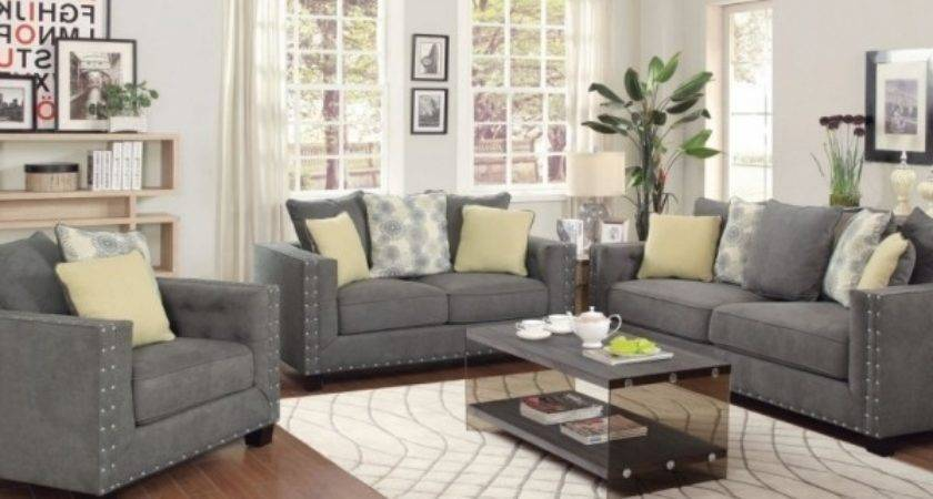 Stunning Grey Living Room Furniture Home Design Ideas Tips