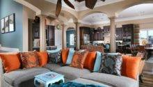 Stunning Living Room Designs Brown Blue