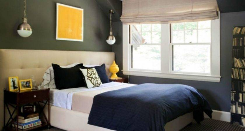Stunning Navy Blue Gray Bedroom Ideas Contemporary