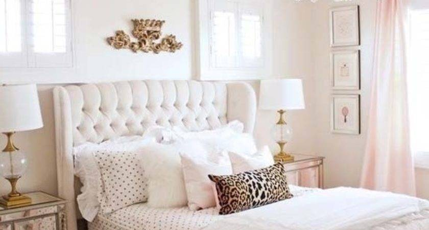 Stunning Pink Gold Bedroom Contemporary Home Design