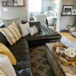 Style Dark Leather Sofa Den Makeover Beneath