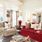 Sublime Red Accent Chair Living Room Decorating Ideas