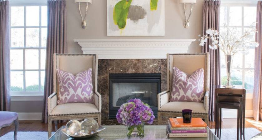 Subtle Purple Green Living Room Beautiful Homes Design