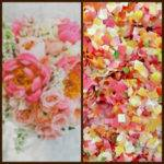 Summer Floral Pink Orange Yellow Biodegradable Confetti