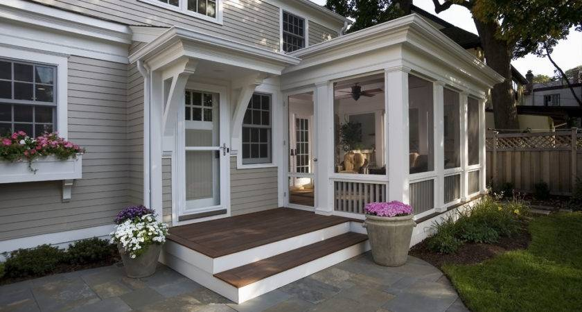 Sun Porch Designs Traditional Container Plants