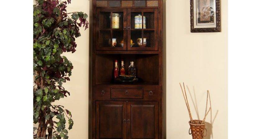 Sunny Designs Dining Room Santa Corner China Cabinet