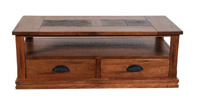 Sunny Designs Sedona Storage Coffee Table Rustic Oak