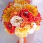 Surprising Red Yellow Orange Wedding Decorations