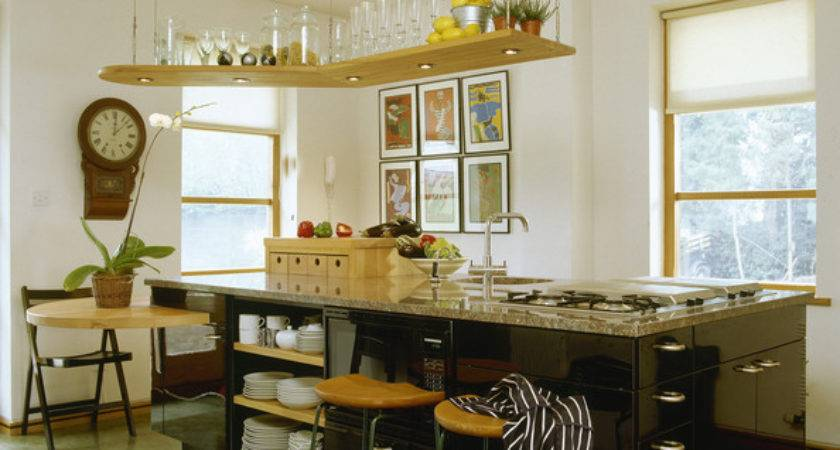 Suspended Shelving Cool Kitchen Ideas Lonny