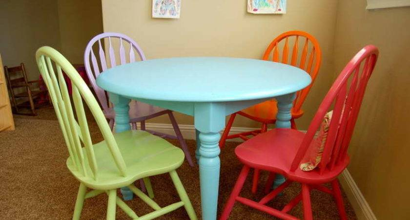 Tables Painted Furniture Ideas Colorful