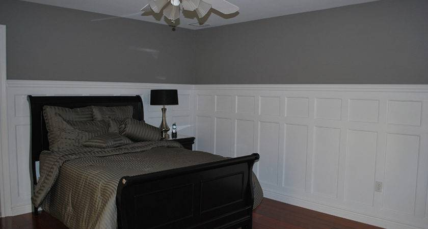 Tall Double Panel Wainscoting Dining Room