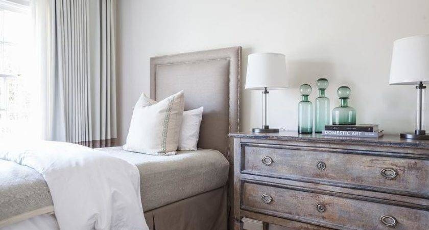 Taupe Gray Bedroom Bernhardt Cabrillo Nailhead