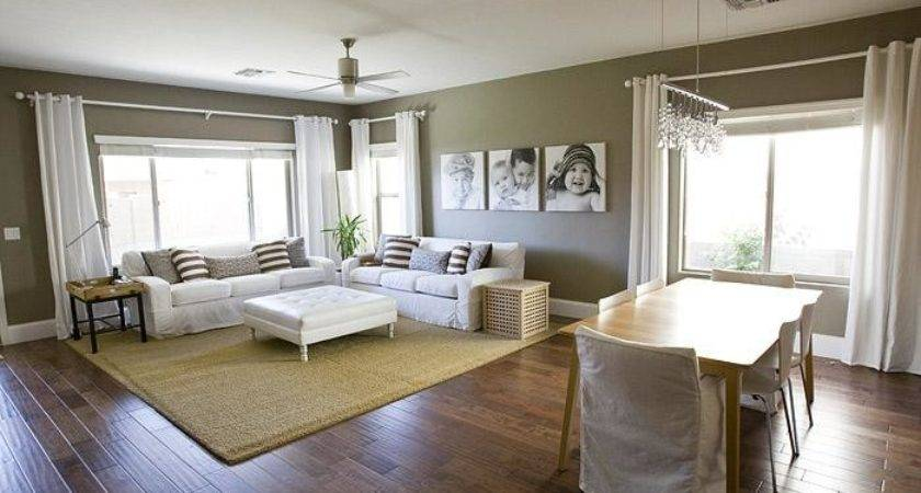 Taupe Paint Transitional Den Library Office Simple