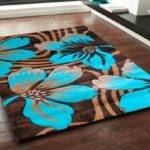 Teal Area Rug Borders Interior Home Design