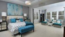 Teal Bedrooms Grey Pattern Light Gray