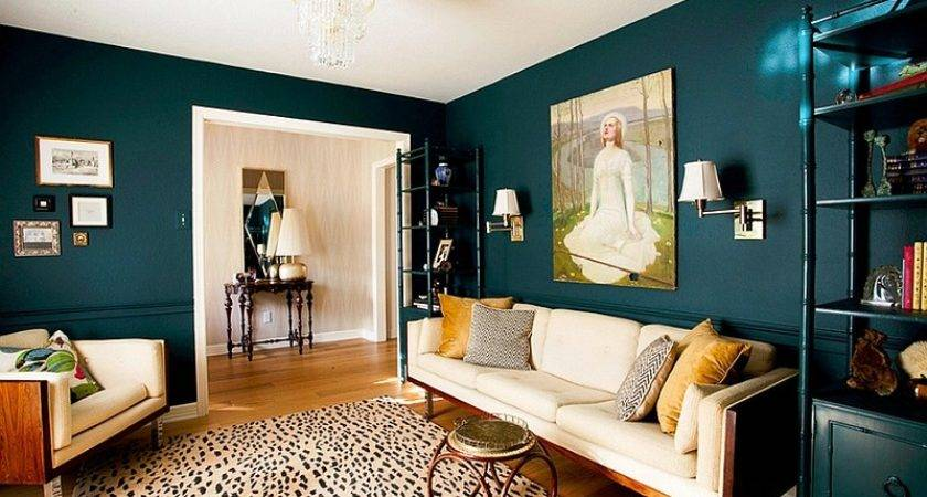 Teal Blue Paint Living Rooms Room Colors Art