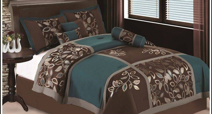 21 Inspiring Chocolate And Teal Bedding Sets Photo   Homes Decor