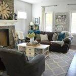 Teal Brown Living Room Decor Modern House