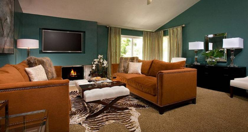 Teal Brown Living Room Decorating Ideas Info Home