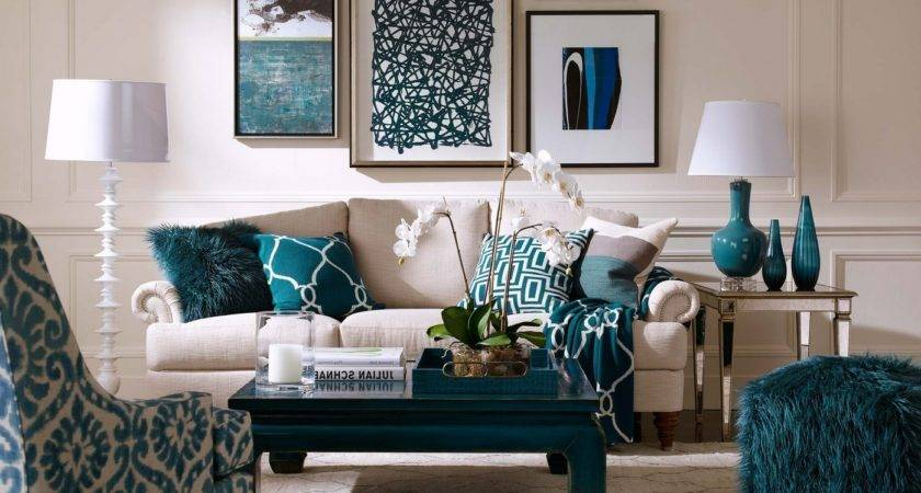 Teal Cream Living Room Peenmedia