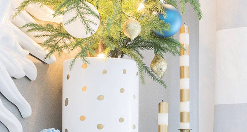 Teal Gold White Christmas Mantel Cuckoo Design