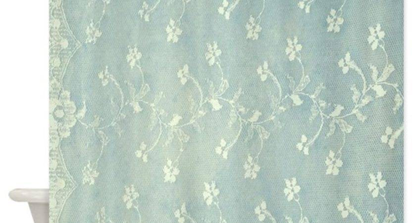 Teal Lace Shower Curtain Admin