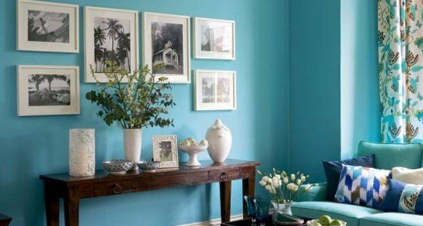 Teal Living Room Dark Home Style