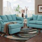 Teal Living Room Furniture Walpaper