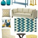 Teal Mustard Living Room Peenmedia