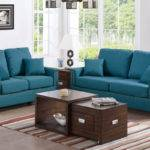 Teal Sofa Set Sprint Solid Wood Frame Living Room