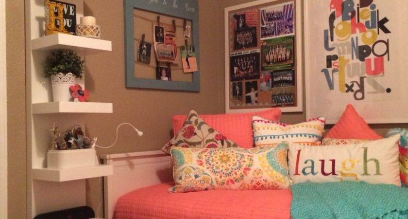 Teenage Daughter Complete Small Coral Teal Bedroom