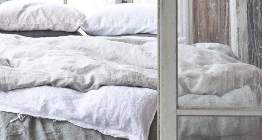 Tell More Duvet Cover Stonewashed Linen