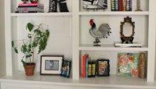 Ten June Living Room Built Bookshelves Styled