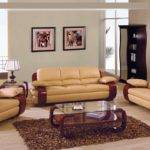 Tenlrset Pcs Tan Leather Living Room Set Sofa