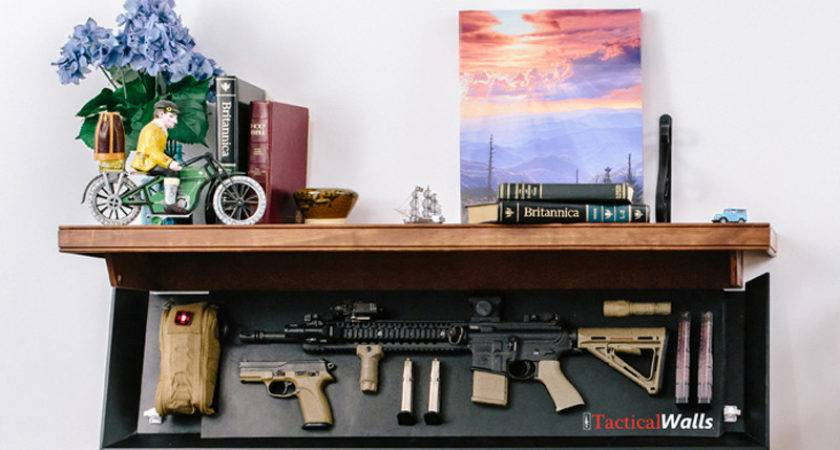 These Shelves Conceal Your Guns Plain Sight
