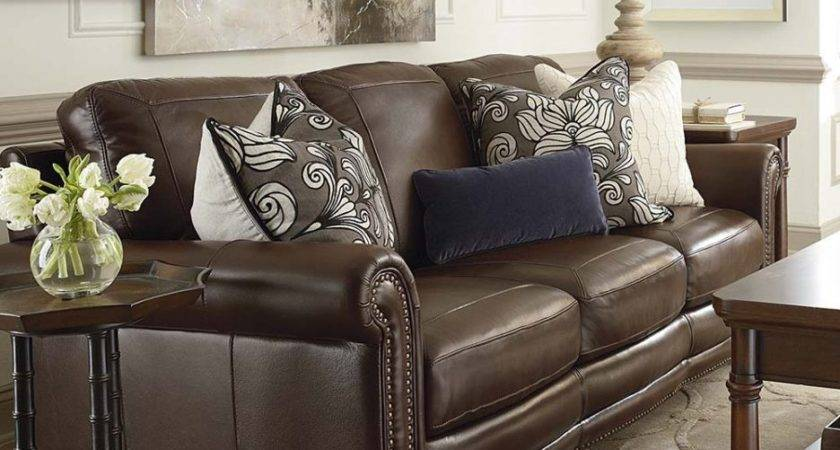 Throw Pillows Brown Leather Couch Color Homes Decor