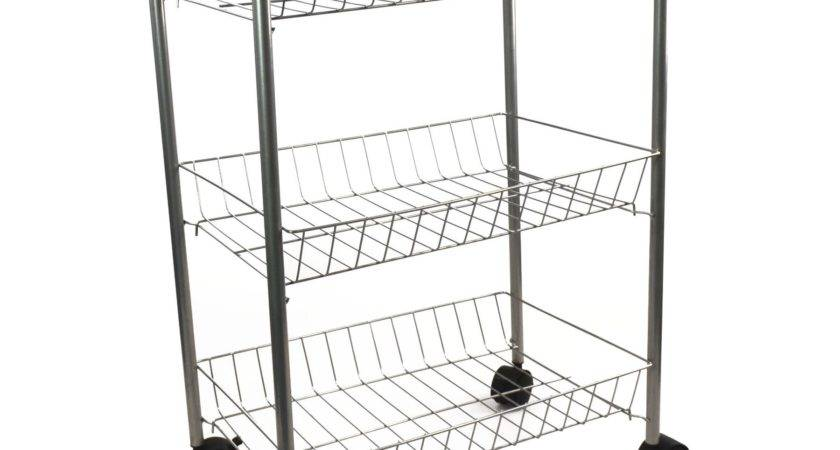 Tier Metal Kitchen Storage Trolley Vegetable Fruit Cart