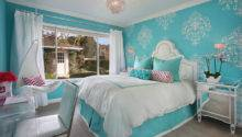 Tiffany Blue Girl Room Transitional Bedroom Orange