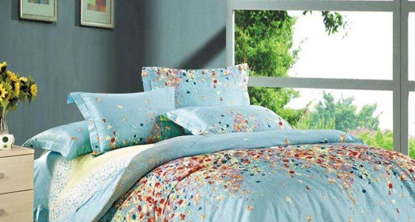 Tiffany Blue Yellow Red Colorful Garden Floral
