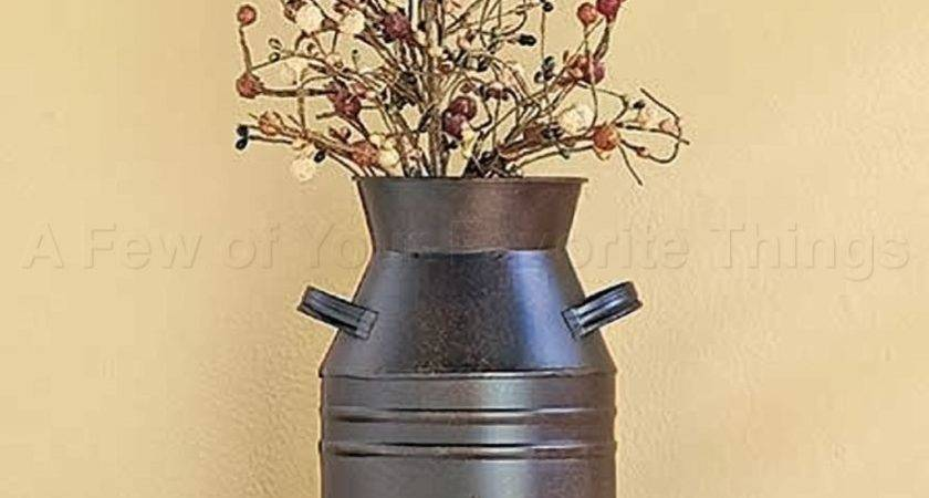 Tin Milk Can Rustic Country Charm Metal Art Living Room
