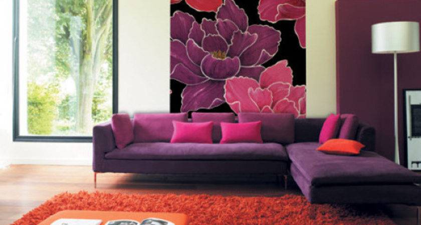 Tips Decorate Room Wall Red Purple Combination