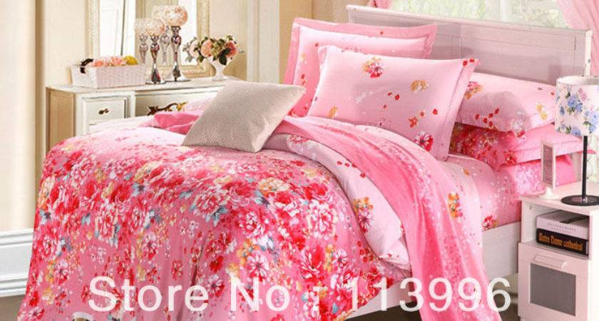 Top Quality Pink Floral Lady Girl Warm Sueded Cotton