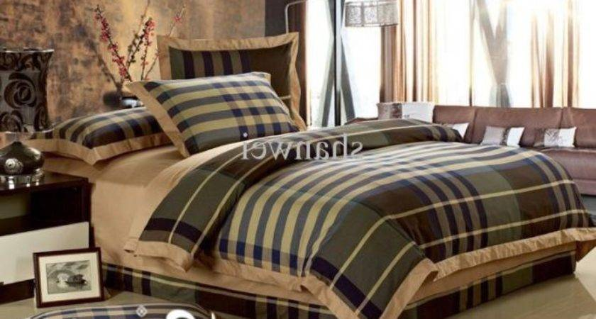 Top Quality Yarn Dyed Cotton Man Plaid Duvet Cover
