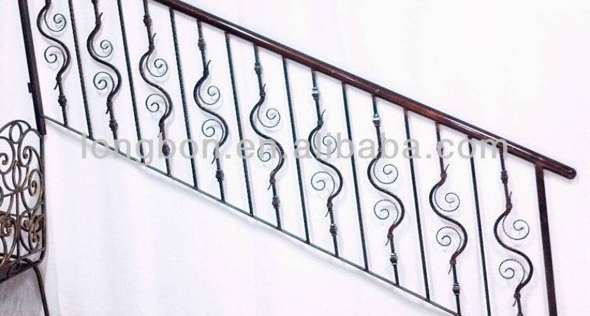 Top Selling Artistic Iron Stair Handrail Grill Designs