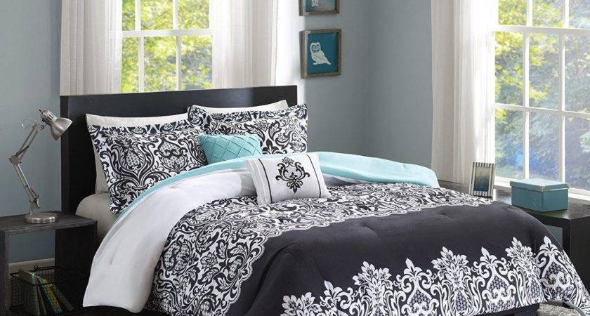 Total Fab Black White Turquoise Bedding