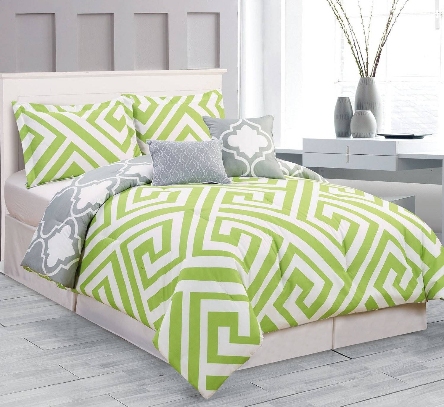 Lime Green And Grey Bedding 24 Photo Gallery Homes Decor
