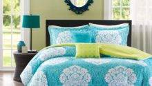 Total Fab Turquoise Blue Lime Green Bedding Sets