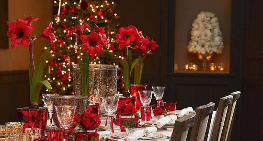 Traditional Christmas Table Decorations Bon Expose